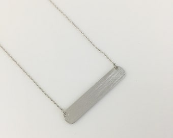I.D Necklace//Simple Silver Necklace//Perfect Gift for Her