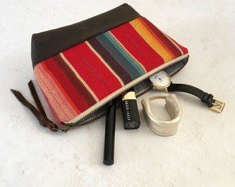 MADISON Clutch, Pouch, Makeup Bag, Zippered Clutch, Zippered Pouch, Travel Pouch, Tech Case, Travel Bag, Leather Pouch, Leather Clutch