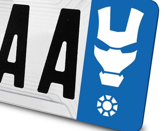 Sticker Iron Man for number plates