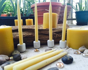 "100% Pure Beeswax hand-dipped candles-6"" beeswax taper candles-1/2"" hand-dipped candles-natural beeswax candles-wedding candles-wedding"