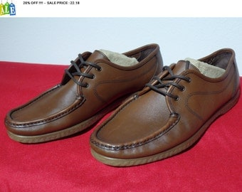 20% OFF !!!!  HUSH PUPPIES brown leather loafers - comfort curve Oxford - us 8.5 / eu 39 // uk 6.5