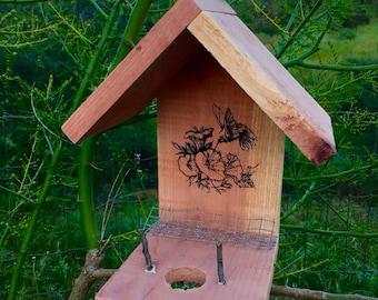 Red Wood Hummingbird Nesting Home