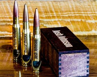 7 50 Cal Bullet Bottle Openers Custom Engraved USMC .50 Cal Bottle Opener, Father of the Bride Gift, Best Man Gift, Groomsmen Gift, Beer