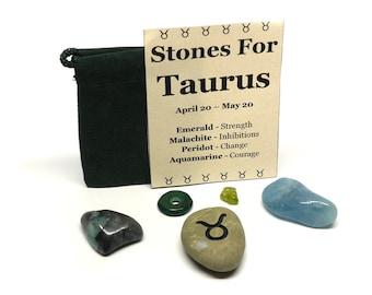 Zodiac Healing Stones Pouch - Taurus - Deluxe