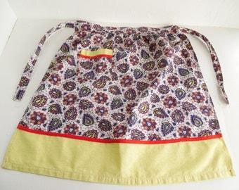 Folk patterned half apron / pinny, boho, gypsy, paisley