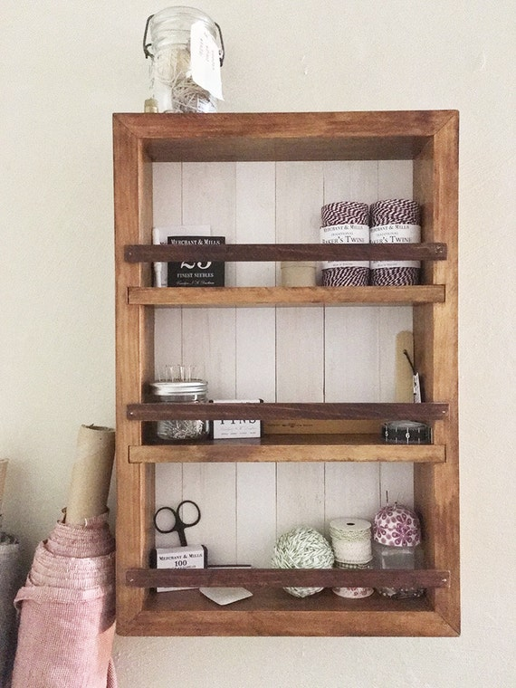 Spice rack wall cabinet wall decor kitchen by for Kitchen cabinets lowes with bathroom wall art pinterest