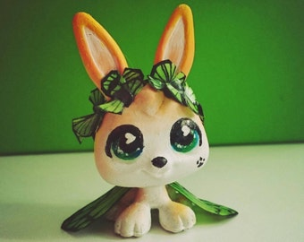 LPS  rabbit fairy butterfly ooak custom by LPS DrakoNika (Pilimon)