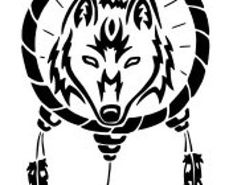 Wolf Dreamcatcher SVG