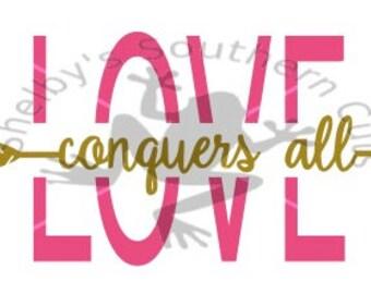 Love Conquers All SVG file/ arrows