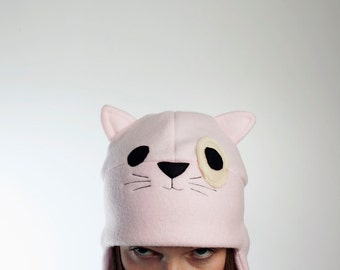 Fleece Cap PINK CAT