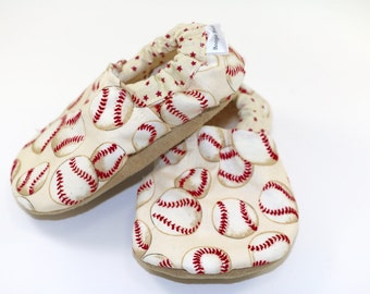 Baseball baby shoes sports baby booties soft sole shoes boy toddler shoes crib shoes boy baby shower gift baseball baby clothes