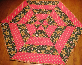 Hexagon Shaped Christmas Table Topper
