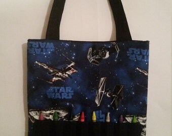 Crayon Tote, Star Wars Crayon Tote, Star Wars Crayon Bag, Activity Bag, Activity Tote, Art Tote, Art Bag