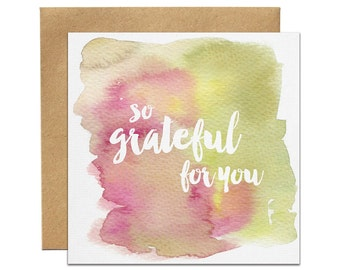 Thank You Card | Greeting Card | Watercolour Card | Thank You Note | Stationary | Gift Wrapping | Thank You Gift | Australia