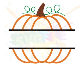 Pumpkin Monogram SVG Files for Cutting Cricut Fall Designs - SVG Files for Silhouette - Instant Download