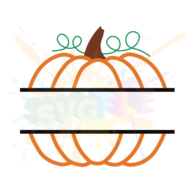 Download Pumpkin Monogram SVG Files for Cutting Cricut Fall Designs