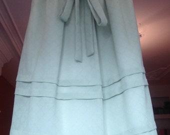 Beautiful Vintage Olive Skirt Midi Skirt Pastel Skirt Size S