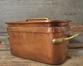 18 th Rare Antique French Hand Made Hammered Copper DAUBIERE BRAISER BOX