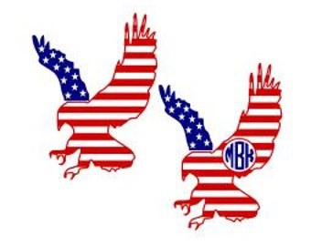 Set of Patriotic Eagles; SVG, Studio 3, DXF, Ai. Ps, and Pdf, Cutting Files for Electronic Cutting Machines