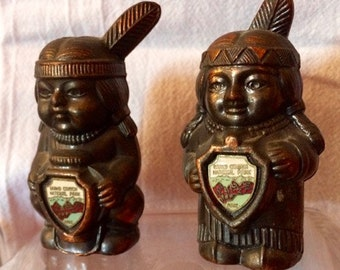 Western Souvenir Salt & Pepper Shakers: Grand Canyon and Totem Pole