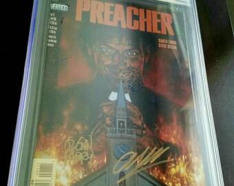 Preacher #1 - CGC Signature Series 7.0 (Signed by Garth Ennis and Glen Fabry) : 1995, Vertigo/DC Comics