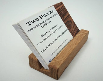 Business Card Holder, made from solid oak, ideal for exhibitions/events/shows/office/corporate/promotional