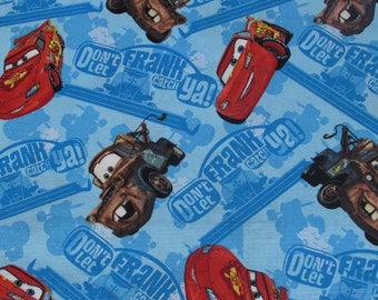 "18"" Disney Cars Fabric Remnant/Bolt end 831"