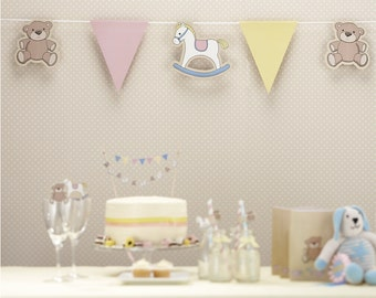 Rock A Bye Baby Shower 1st Birthday Banner Decorations Supplies