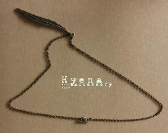 Brass Feather Necklace Handmade