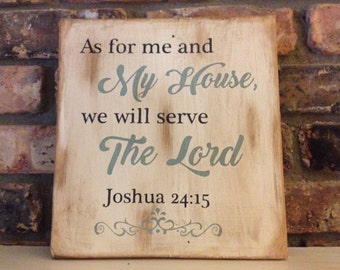Small Bible quote sign