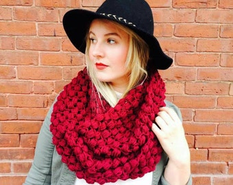 Instant Download- CROCHET SCARF PATTERN Bulky Infinity Scarf