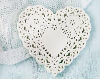 coeurs en papier crêpé (100)