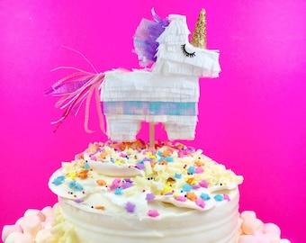 Unicorn Cake Topper, Mini Piñata, Unicorn Party, Baby Shower, Bridal Shower, Cake Smash, Unicorn Wedding, Unicorn Birthday, 1 topper