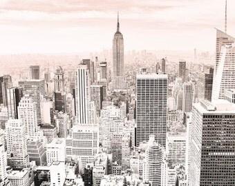 New York Print   NY City Skyline Travel Poster   New York City Map