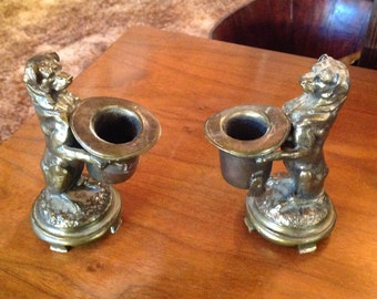 Dog Candle stick holders