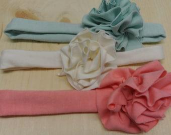 organic cotton baby girl flower headband