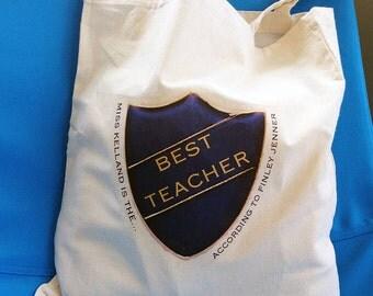 Personalised Best Badge Bag