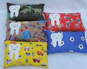 ON SALE - Tooth Fairy Pillow, Tooth Fairy Cushion, Tooth Pillow, Tooth Cushion. Handmade