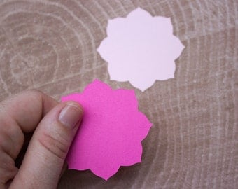 Pink Mandala Flower Die Cuts - Card Making - Scrapbooking - Wedding