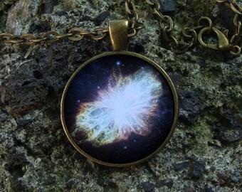 Glow in the dark Galaxy necklace Nebula pendant Glow necklace Galaxy pendant Glow space jewelry Nebula space Cosmos necklace Stars necklace