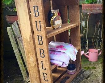 Rustic/shabby shelf unit /bathroom/ kitchen/ anywhere