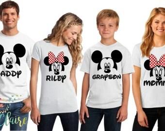 Disney Family Shirts I Matching Disney Shirts I Mickey and Minnie Head Couples Shirts I Disney Tank Tops I Custom Family Disney Shirts