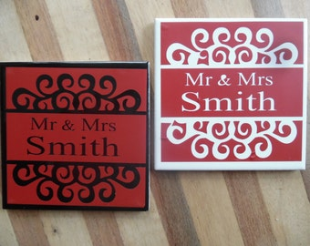 Ceramic Tile Coasters - set of 4 (Bulk Available)