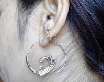 Earrings, brass earrings, indian earrings