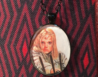 Friday the 13th Part 2 Amy Steel Resin Pendant Necklace Jason Voorhees Horror