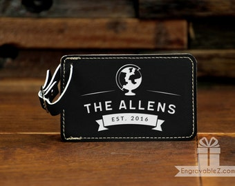 Globe Trotter Personalized Luggage Tag