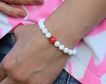 New Year Gift Christmas Bracelet Winter Bracelet Holiday Bracelet Holiday jewelry xmas bracelet White red Bracelet Christmas jewelry