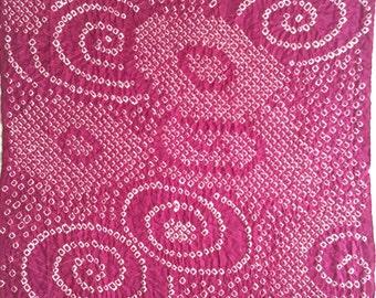 Vintage Japanese Kimono Fabric, Shibori Tie-dyed Fabric, Whorls, Kimono Cutting Cloth