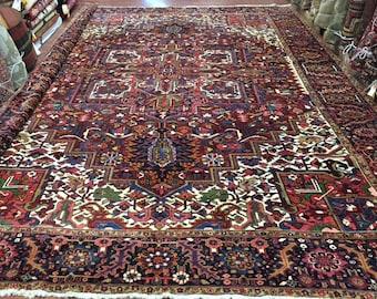 Antique Persian Heriz Rug (large)-4357