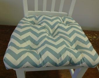 Captivating Zig Zag Chevron Chair Cushion Village Blue, Robinu0027s Egg Blue And Natural